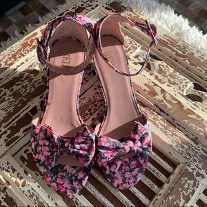 RED Valentino Floral Mini Wedges